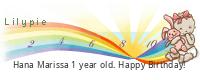 Lilypie First Birthday (vgwi)